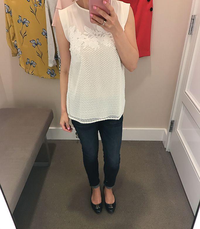 17e88bbdd02 HM trend jacquard weave yellow skirt    StylishPetite.com