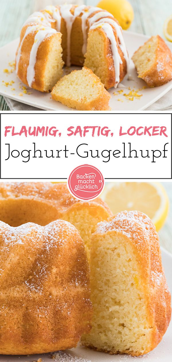 Zitronen-Joghurt-Gugelhupf | Backen macht glücklich