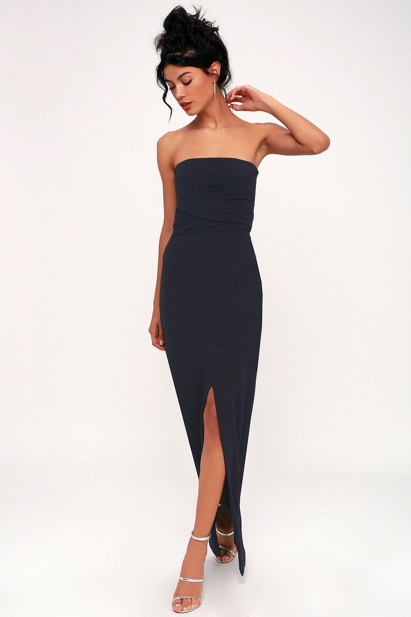 Own The Night Navy Blue Strapless Maxi Dress Strapless Maxi Dress Maxi Dress Maxi Dress Blue [ 1245 x 830 Pixel ]