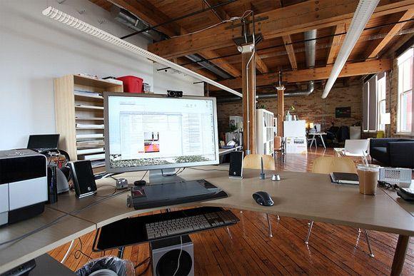 30 Ejemplos de oficinas diseñadas con madera El aluminio, Oficinas
