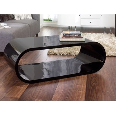 Click To Zoom   Oval Gloss Coffee Table Black