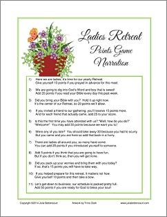 Ladies Fellowship Retreat Game Giveaway Made 2 B Creative