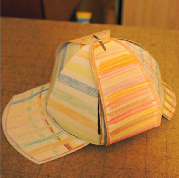 Sherlock Holmes Paper Deerstalker Hat Template on Behance  de1f1116809