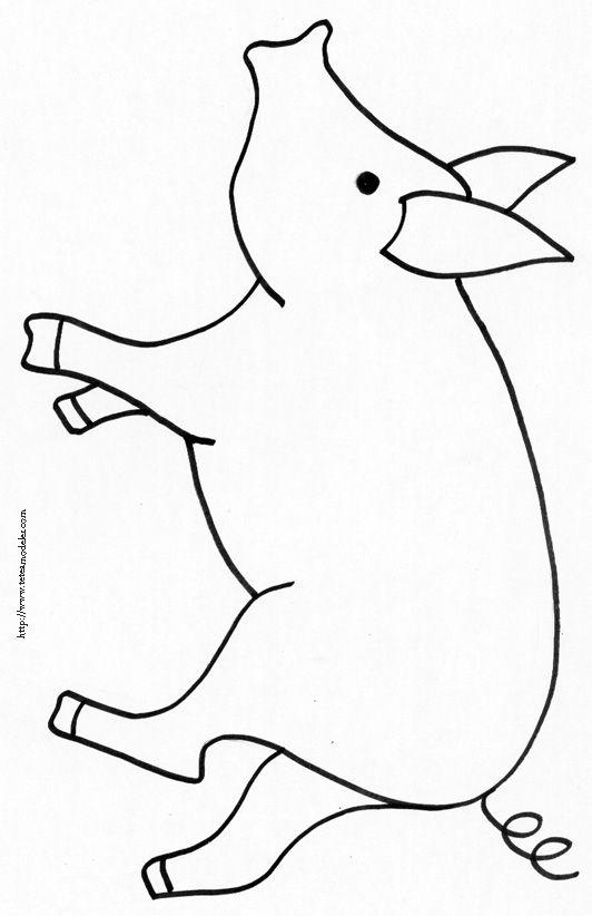 Coloriage Tete De Cochon.Coloriage Du Cochon De La Ferme Coloriage Farm Animals Preschool