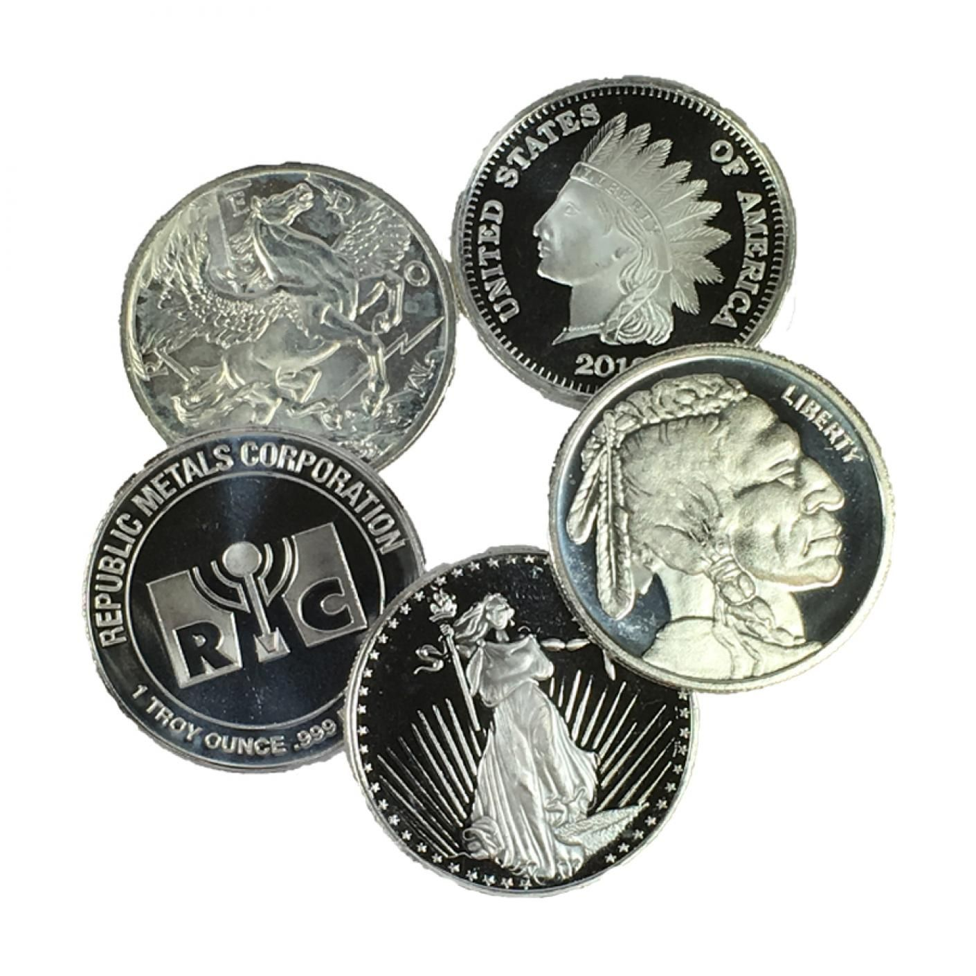 1 Oz Silver Rounds Generic Silver Rounds Silver Silver Bullion