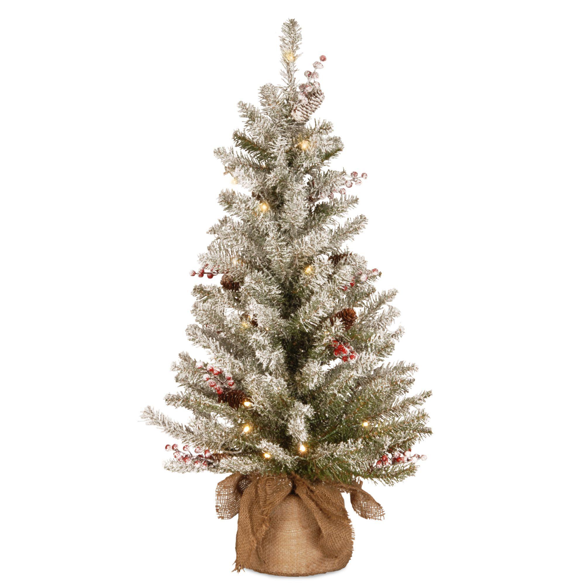 3 Pre Lit Dunhill Fir Artificial Christmas Tree Warm White Led Lights Pencil Christmas Tree Pre Lit Christmas Tree Flocked Christmas Trees
