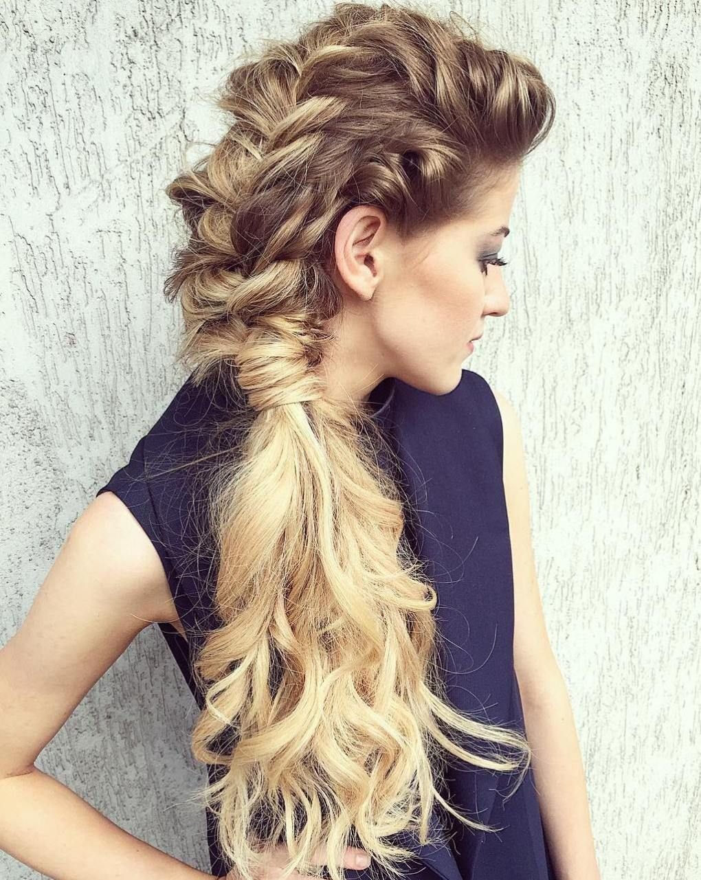 side hairstyles for prom to please any taste mohawks curly and