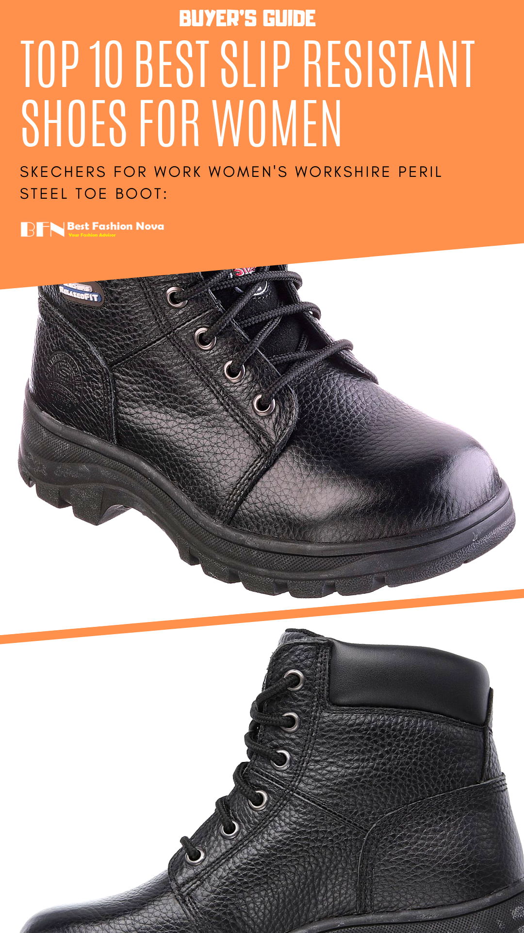 Slip resistant shoes, Steel toe boots