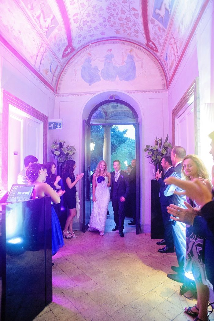 Wedding Reception | Romantic Rome Garden wedding | Fab Mood