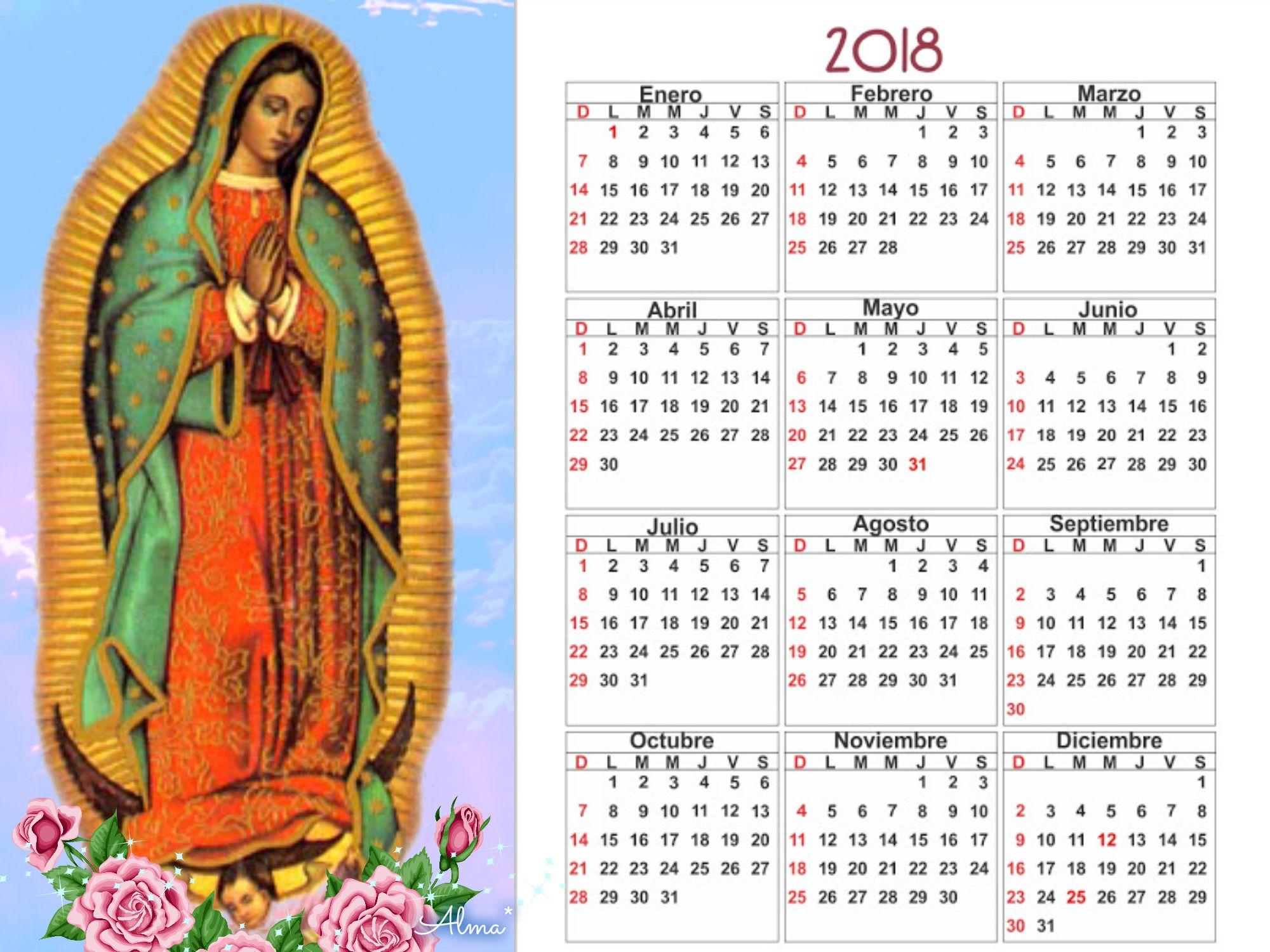 Calendario Religioso.12 De Diciembre De 2017 Imagen De Calendario Religioso 2018