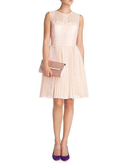 19a8542dcf43f FREJAH - Lace dress - Pale Pink