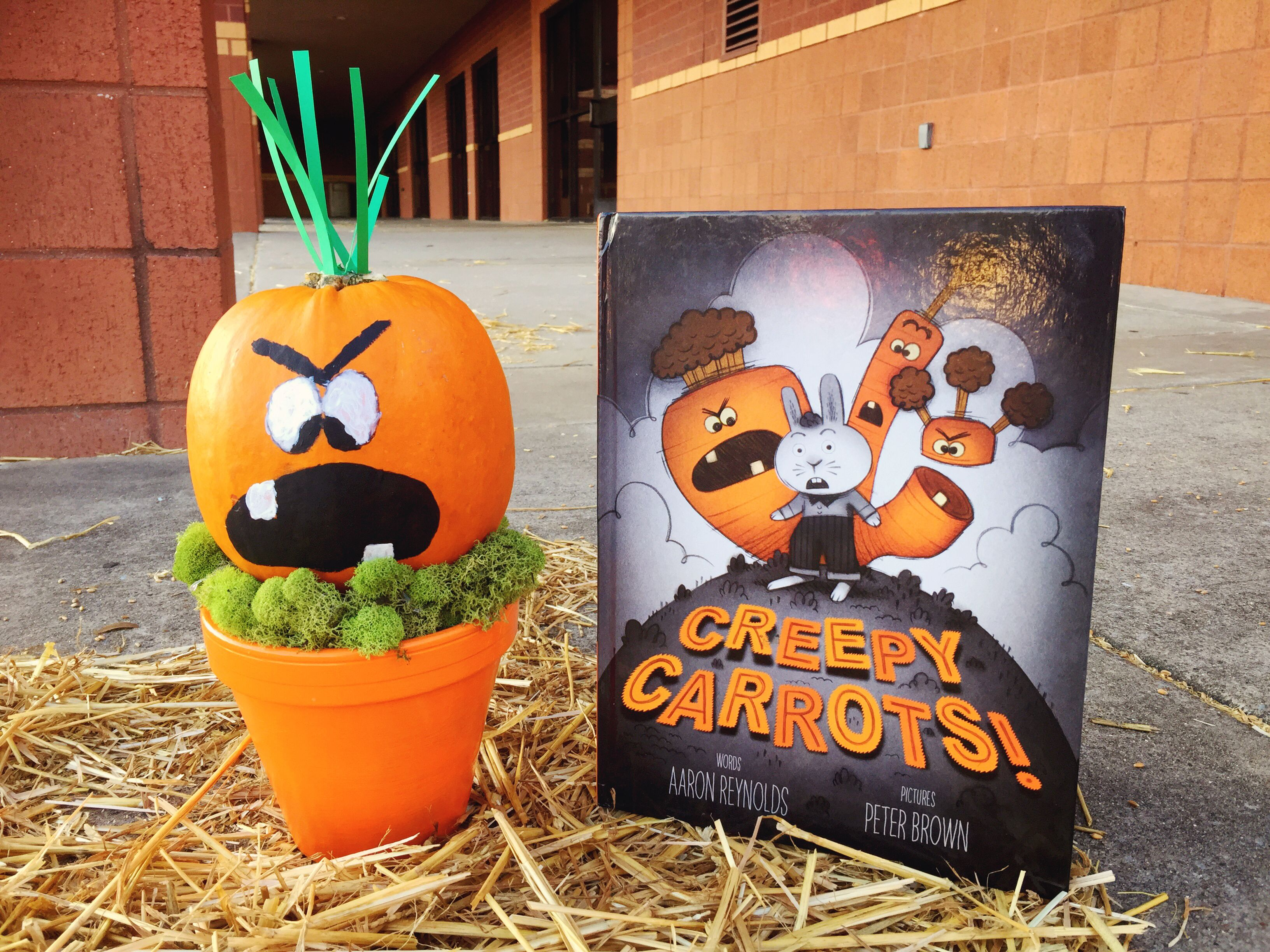 Book Character Pumpkin Creepy Carrots By Aaron Reynolds Book Character Pumpkins Character Pumpkins Pumpkin Books