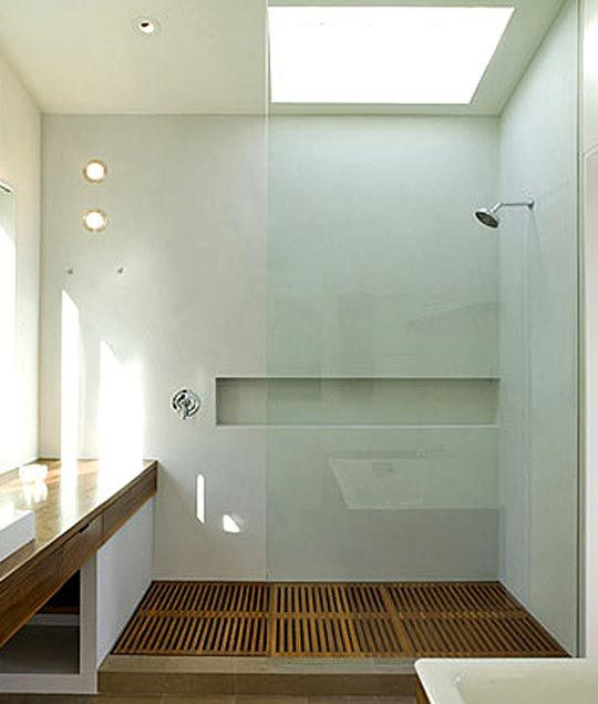 baños-minimalistas-1 Puerta Pinterest Lofts, Bath and Interiors