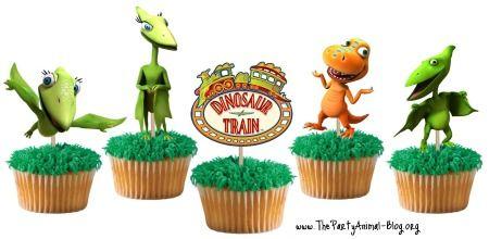 Dinosaur Train Cupcake Toppers