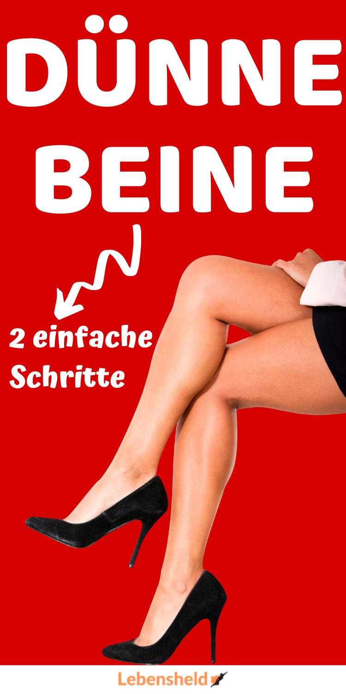 Schnell dünne Beine – 2 Schritte