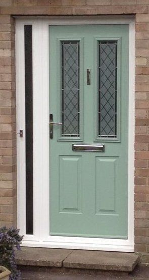 Light Green Front Door A Very Popular Colour Looks Great With The