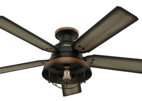 New 52 Quot Hunter Bronze Outdoor Damp Rated Ceiling Fan Amp
