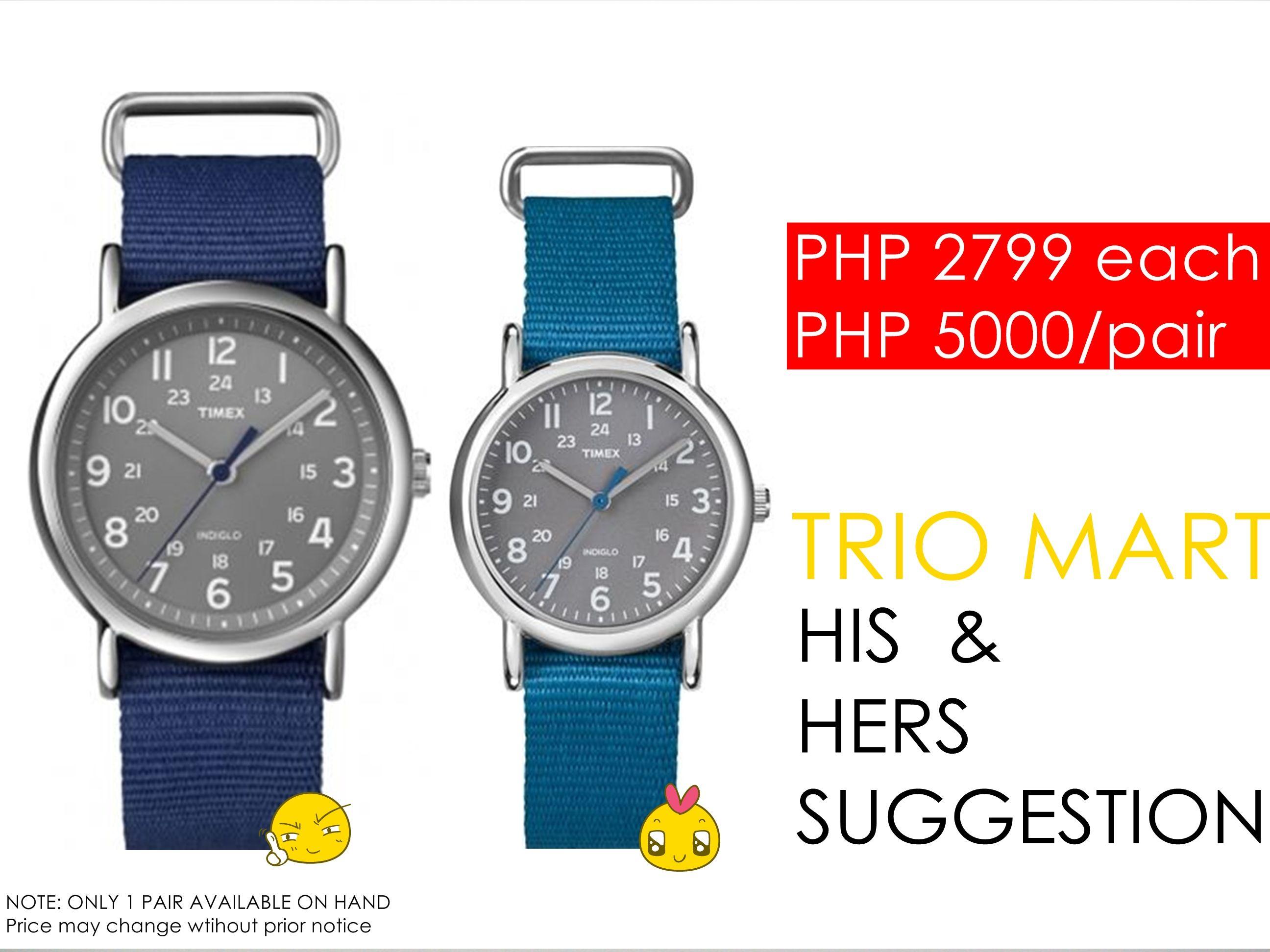 b41919a7d09 Timex Couple Watch Suggestion Men s and Women s Weekender Watch Timex  Women s Weekender T2N913 Blue Nylon Quartz