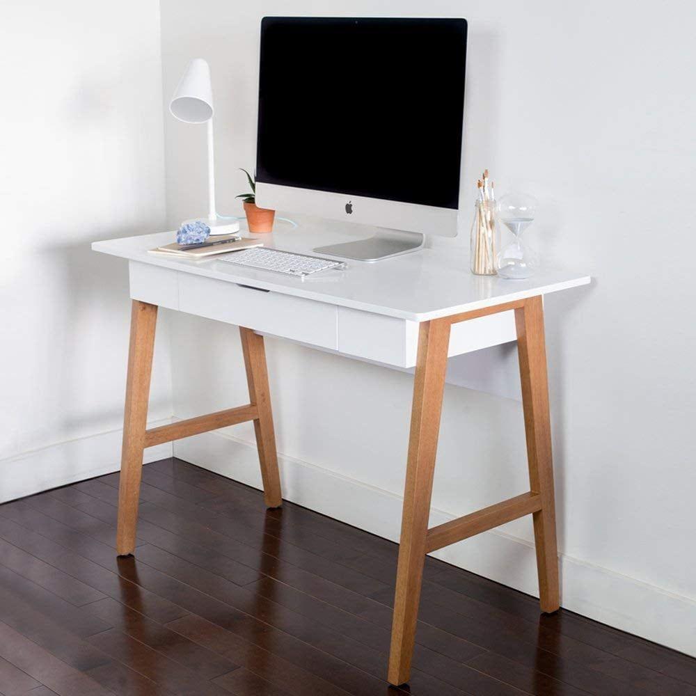 Nathan James Telos Desk Desk With Drawers Home Office Computer Desk Furniture