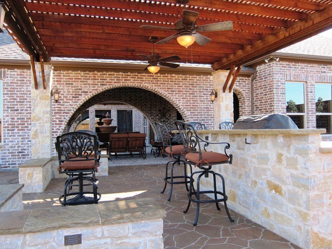 Stone Outdoor Kitchens In Dallas Tx Custom Stone Work Outdoor Kitchen Patio Backyard Fireplace