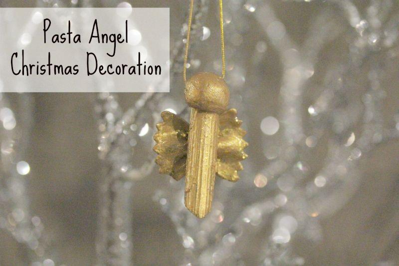 Christmas Crafts - Pasta Angel Decoration