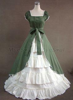 Colonial Cosplay Lolita Dress Ball Gown Prom Reenactment Clothing 020 L 2a6f1b4484ec