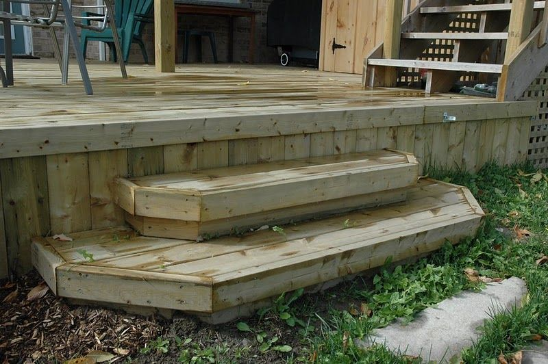 Back Porch Step Deck Build A Wood Deck In 4 Simple Steps