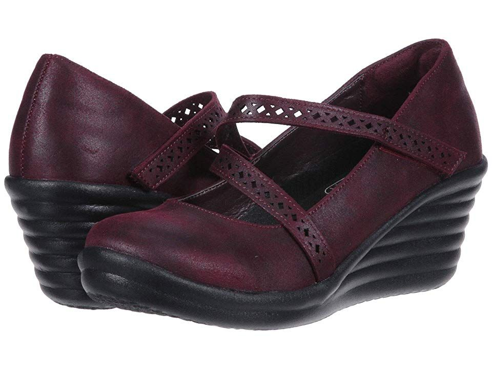 SKECHERS Rumbler Wave Filigree (Burgundy) Women's Shoes