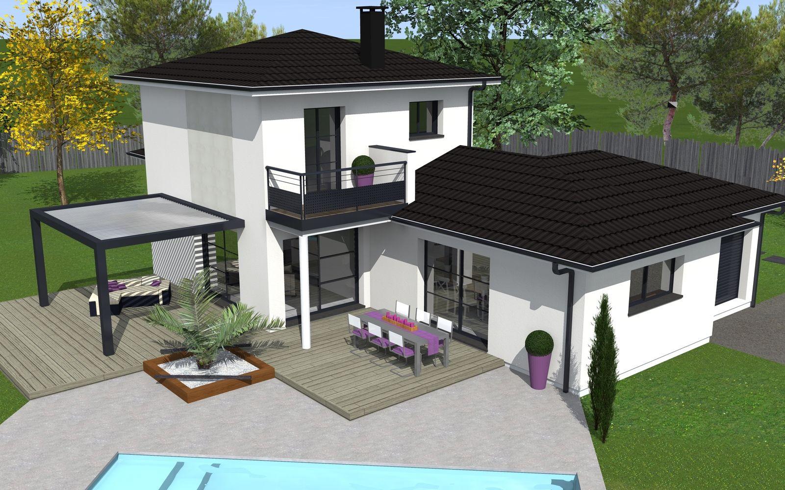 Plan Maison En L Avec Etage Partiel Plan