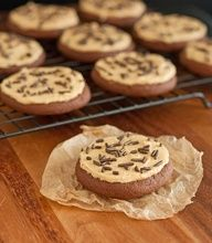 Chocolate Sugar Cookies with Peanut Butter Frosting