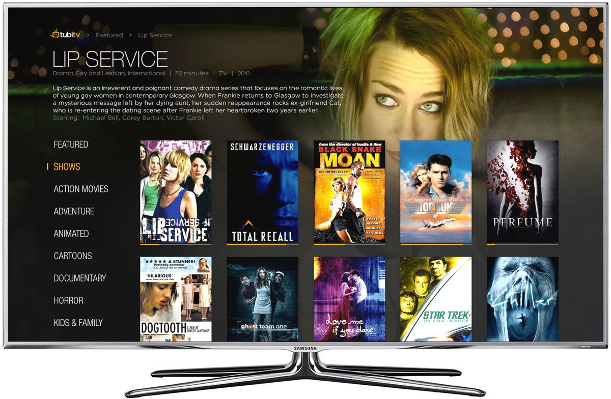 Tubi TV Design Tv app