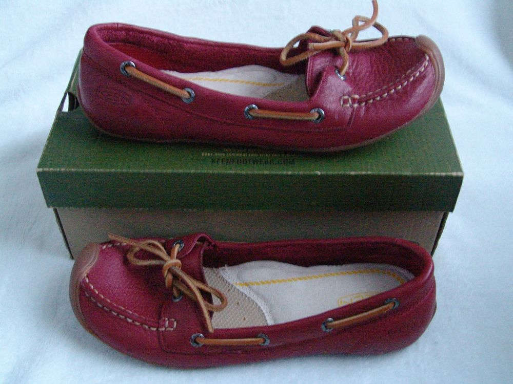 d1ad671a7a0 Keen Womens Size 8 Catalina Boat Shoe Biking Red Soft Flexible Shoes NIB  Leather #KEEN #BoatShoes