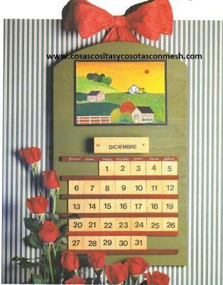 Calendario manualidades ~ cositasconmesh