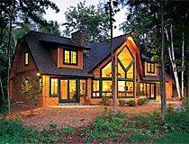 cedar home with black trim | Log Home Designs / Log Home & Log ...