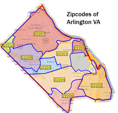 Arlington Zip Codes Real Estate Out Loud Pinterest Arlington