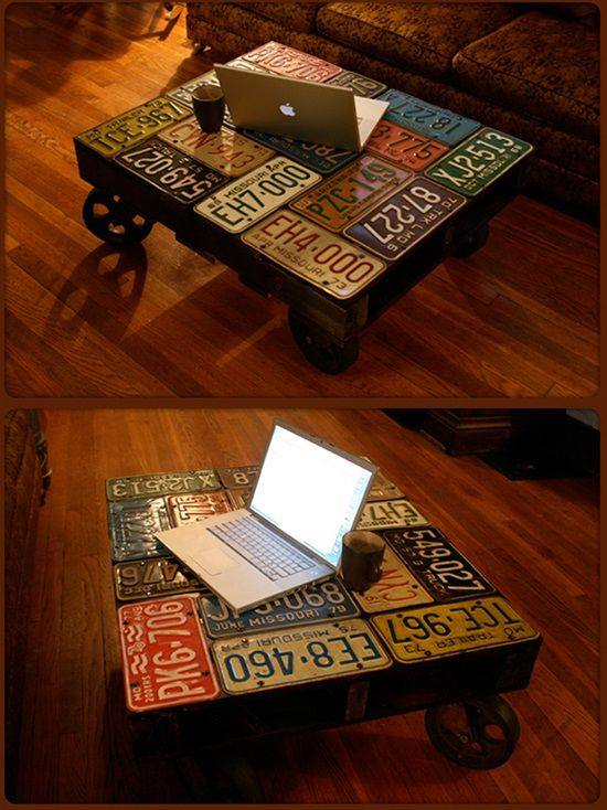 13 amazing decor ideas using old license plates | license plate