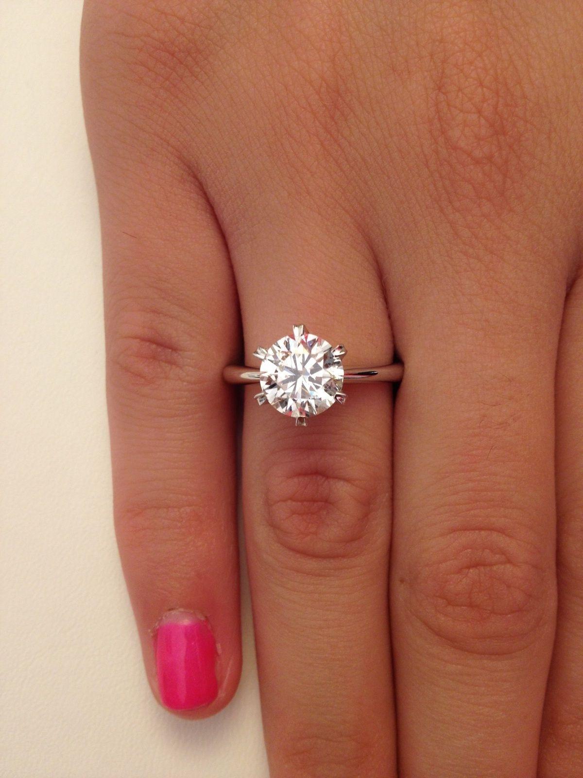 61574ddf2 2.5 Carat Tiffany Engagement Ring | Ring | Tiffany engagement ...