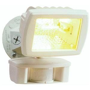 Cooper Lighting Ms80w 110 Degree 150w Halogen Motion Security Floodlight White By Cooper 27 85 From The Man Motion Sensor Lights Flood Lights Motion Sensor