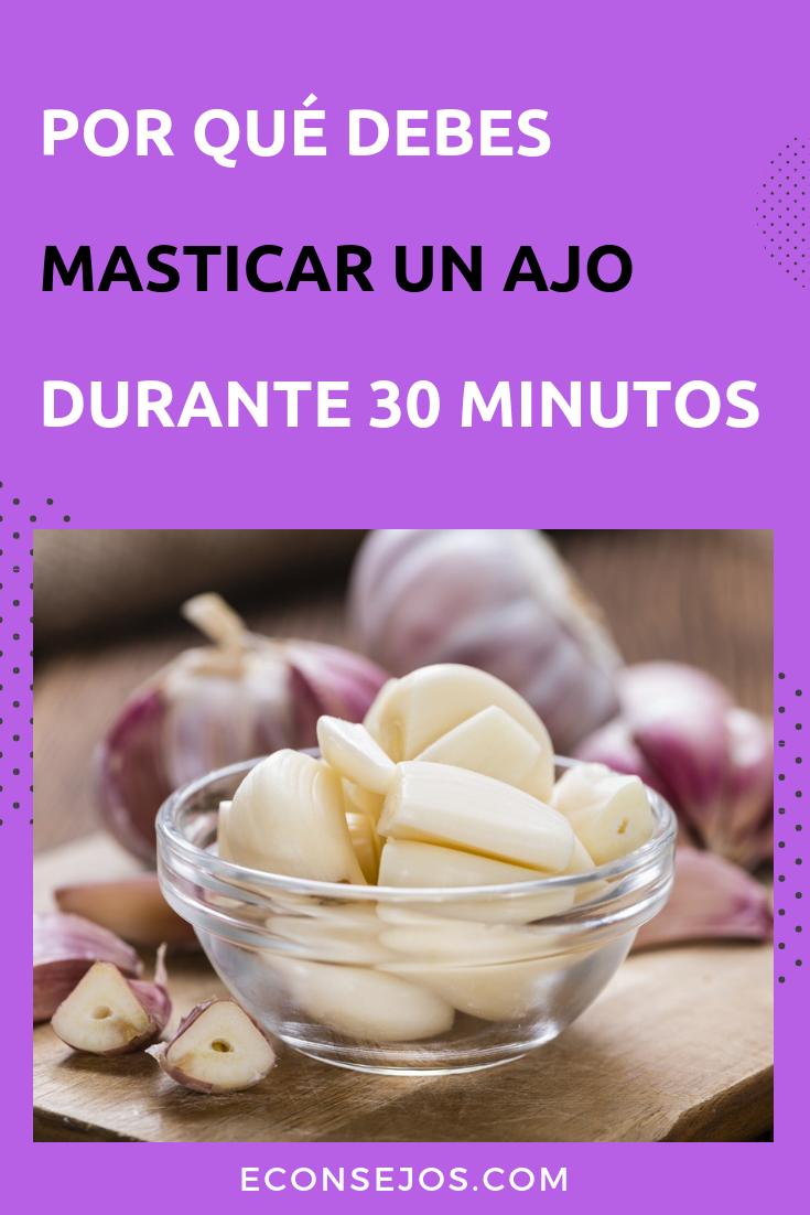 Masticar Un Diente De Ajo Durante 30 Minutos Diarios Puede Mejorar Tu Salud En 2020 Beneficios Del Ajo Comidas Para Bajar De Peso Recetas De Comida