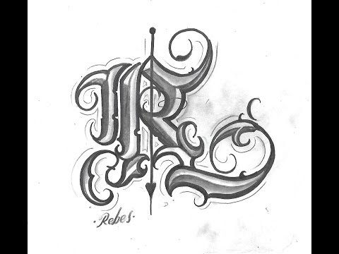 Letras Para Tatuar R Drawing Chicano Letter Como Dibujar