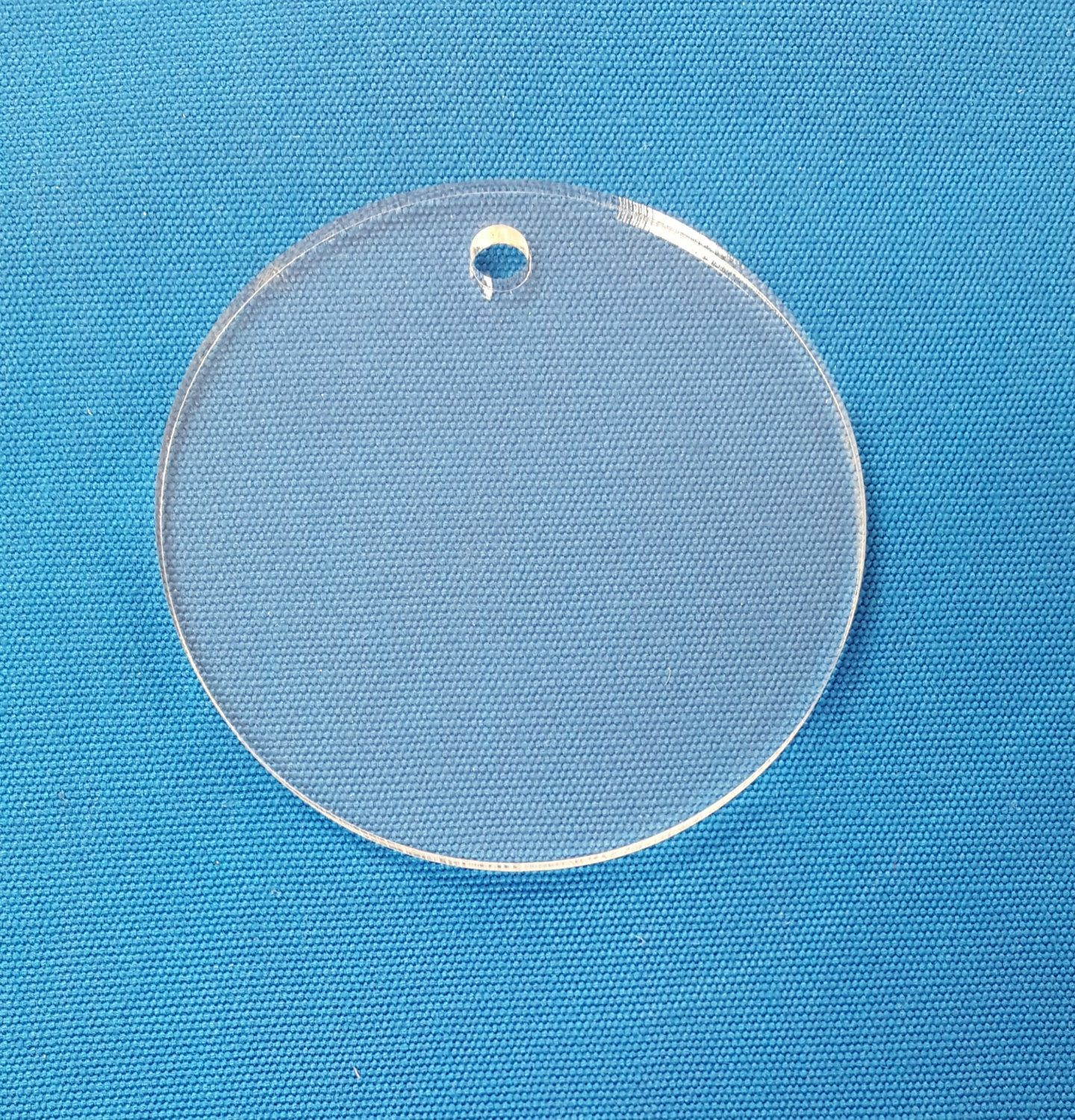 """50 Acrylic Circle Clear Disc Craft 1.5/""""dia.x1//8/""""or1//16/"""" Engraved"""