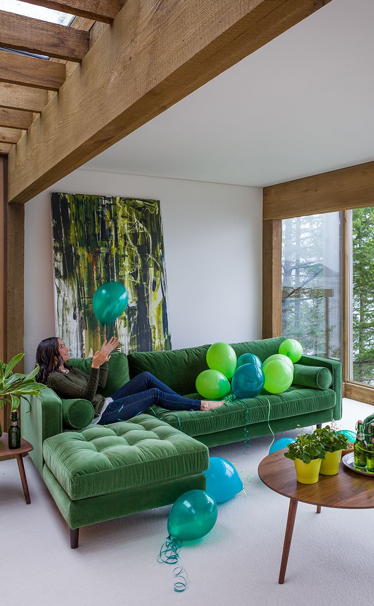 Pleasing Sven Grass Green Left Sectional Sofa Living Room Color Uwap Interior Chair Design Uwaporg