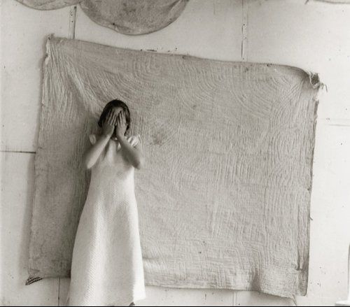 "© Francesca Woodman - Untitled, ""Patterns"" (variant from Some Disordered Interior Geometries), New York, 1980-81 (courtesy of the Robert Klein Gallery)"