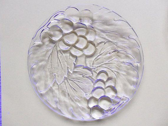 5 Vintage Grape Design Glass Salad/Dessert Plates by MeerkatsManor $34.00 & 5 Vintage Grape Design Glass Salad/Dessert Plates KIG Indonesia ...