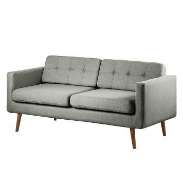 Sofa Croom I 3 Sitzer Webstoff Grau Sofa 2er Couch Woody Mobel