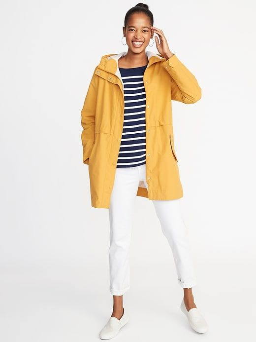 1ac3a9fdf0571 Water-Resistant Hooded Anorak for Women in 2019
