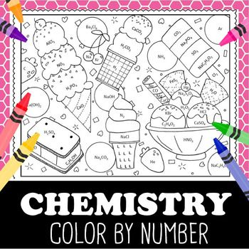 Counting Atoms Chemistry Color By Number Ice Cream Chemistry