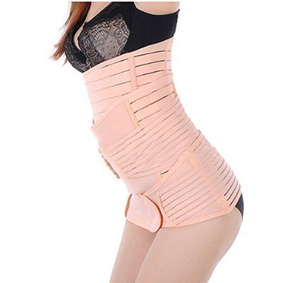 a25745f7a0f0a Generic Women 3 in 1 Postpartum Girdle Abdominal Binder with Pelvis Belt  Gastric Belt Combined Breathable