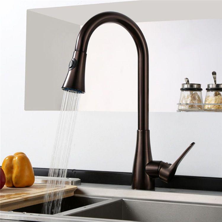 キッチン蛇口 引出し式水栓 台所蛇口 冷熱混合栓 整流 シャワー吐水式