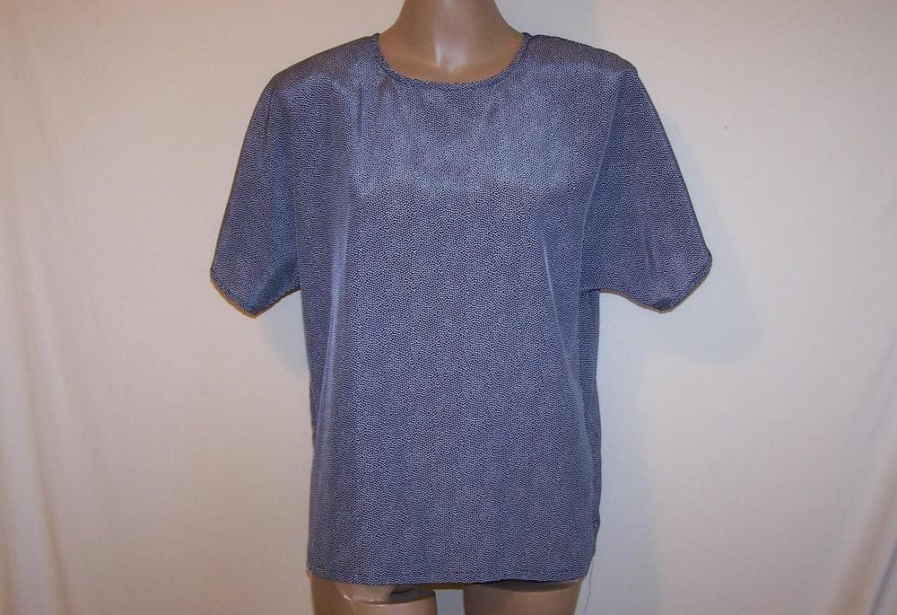 NICOLA Shirt Top Blouse Short Sleeves Polka Dots Womens Career Work Sz L #Nicola #Blouse #Career